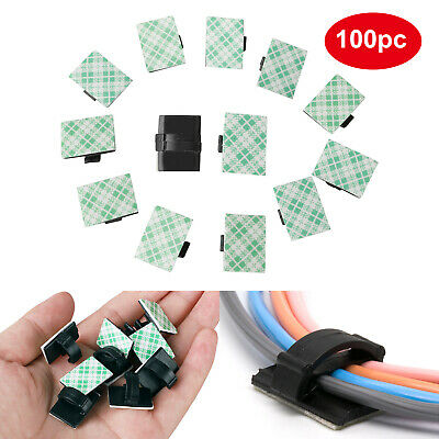 20pcs self-adhesive wire tie cable clamp clip holder for car dash cam VVEC
