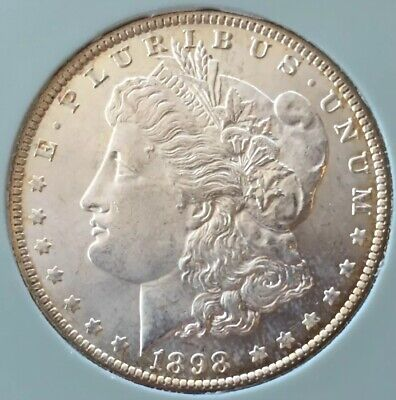 MS! BRILLIANT BU! 1898 O Morgan Silver Dollar ~ ESTATE SALE ~ NO RESERVE $1