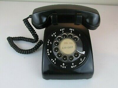 BELL SYSTEM made by Western Electric Black Vintage Rotary Dial Telephone
