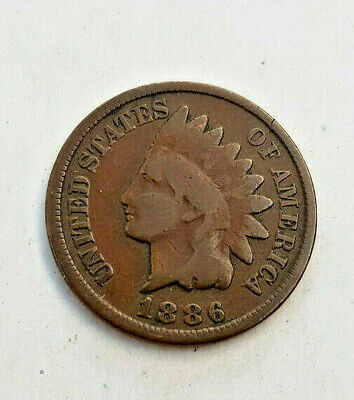 1886 Type 2  Bronze INDIAN HEAD CENT Cent Penny