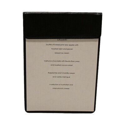 A5 Restaurant Magnetic Menu Board Black Faux Leather