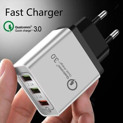 3USB Wall Charger QC3.0 Phone Fast Charger EU Plug Qualcomm Quick Charge 5V 2.4A