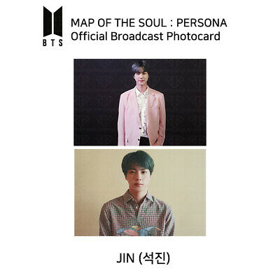 BTS - MAP OF THE SOUL : PERSONA Official Broadcast Photocard - JIN