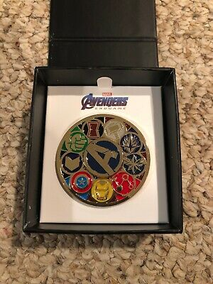 2019 COMIC-CON EXCLUSIVE MARVEL AVENGERS Deluxe Spinning Enamel Pin SDCC In Hand