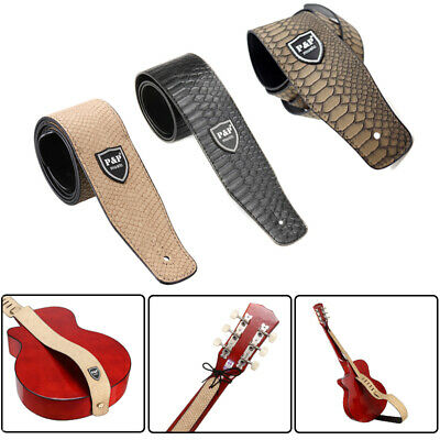 PU Leather Guitar  Bass Classic With Snakeskin Pattern Strap Acoustic Electric