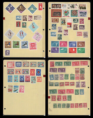 A4 Homemade Album Pages with 107 Used, Mint & CTO Stamps (WF15)