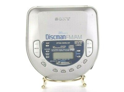 Sony Discman D-T405 ESP - AM/FM Portable CD Player Silver TESTED
