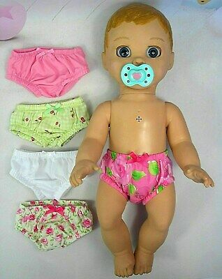 ACCESSORIES FOR LUVABELLA DOLL ~ 5 x UNDIES~KNICKERS~(d) PINK~ROSES~CHERRIES