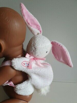 Baby Born DOLL Bunny Back Pack - Zapf Creation GENUINE Doll Clothing