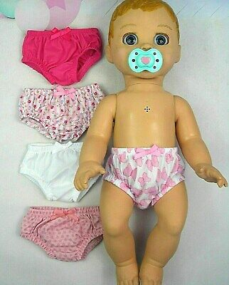 ACCESSORIES FOR LUVABELLA DOLL ~ 5 x UNDIES~KNICKERS~(1)PINK~BUTTERFLIES~WHITE