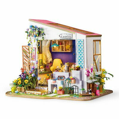 Rolife DIY Wooden Dollhouse Kits with Furnitures Lily's Porch Miniature Doll Hou