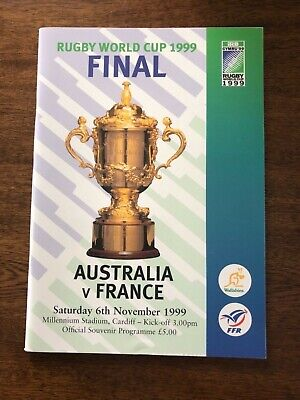 1999 Rugby World Cup Final Programme & Ticket