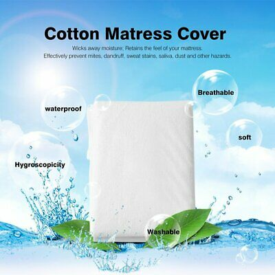 Comfortable Waterproof Breathable Mattress Cover Protect Deep Fitted Bed Sheet#