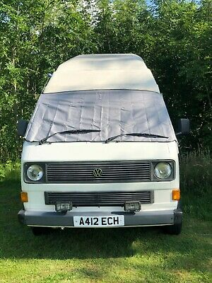 VW T25 screen cover wrap black out camper frost protection window van Grey