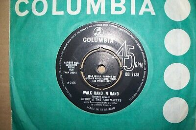 Gerry And The Pacemakers,  Walk Hand In Hand,  Columbia Records 1965  Ex