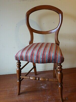 An antique Victorian hall or bedroom chair.
