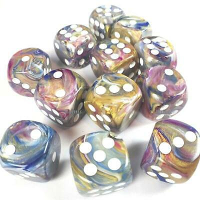 Chessex - Festive Carousel w/white - Dice Block (16mm) - 27640