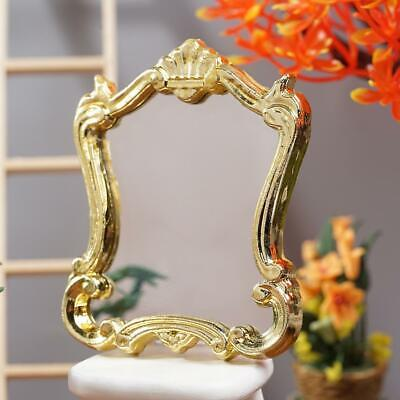 1:12Dollhouse Miniature Royal Wedding Mirror Gold Frame DIY Furniture New