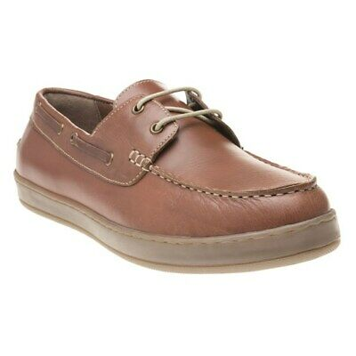 New Mens Lotus Brown Petro Leather Shoes Boat Lace Up