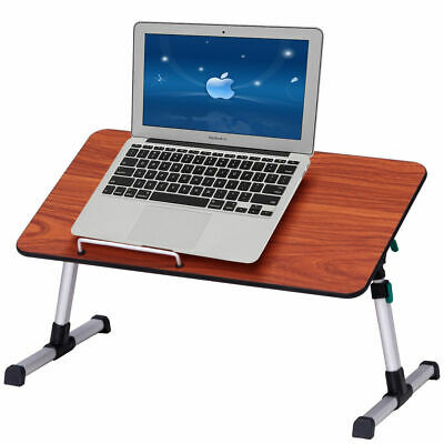 Portable Height Adjustable Laptop Bed Tray Table Standing Desk Breakfast Tray