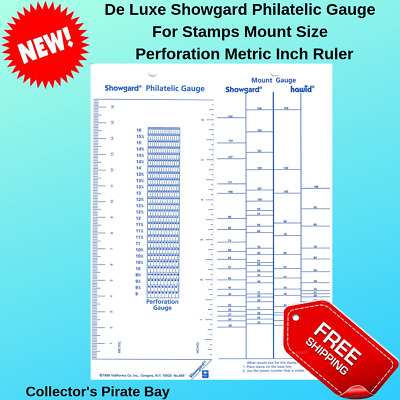 Mount Size Perforation Metric Inch Ruler Philatelic Gauge For Stamps Collection