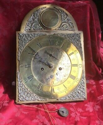 Antique Brass Dial Grandfather Longcase  Clock Movement Tho Gordon Edinburgh