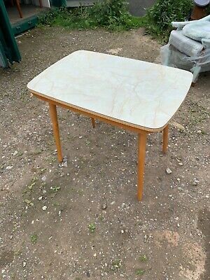Mid Century Retro Formica Top Dining Kitchen Table 1950s 60s Vintage Table MCM