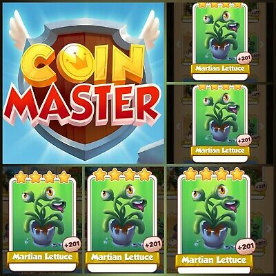 5× Martian Lettuce Coin Master Card ( Fastest Delivery ) coin master