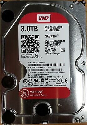 "Western Digital WD NAS Red 3TB, 5400 RPM,3.5"" (WD30EFRX) HDD"