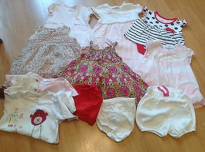 Immaculate Baby Girls Clothes Bundle Mainly Dresses High Street Brands Age 0-6 M