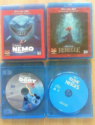 Lot Blu Ray 3d Disney PIXAR Nemo, dory, rebelle, la reine des neiges, pas la 2D