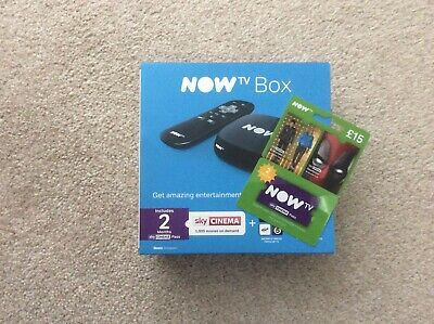 Now TV box with £15 2 Month Sky Cinema pass *brand new never opened* no reserve