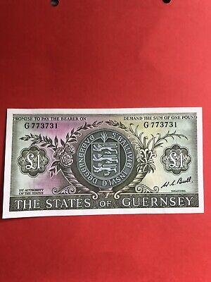 States Of Guernsey £1 One Pound Banknote - Signatory Bull - 69-75