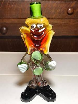 Vintage Murano art glass clown