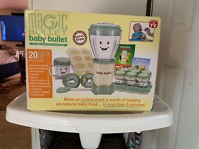 Magic Baby Bullet BBR-2001 Complete Food Blender Processor System - Green