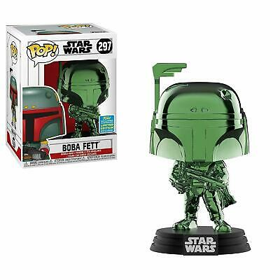 Funko Pop! BOBA FETT Green Chrome #297 Star Wars Shared SDCC Exclusive IN HAND!