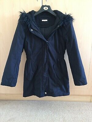 Girls Bluezoo Debenhams Navy Blue Hooded Jacket Age 11-12 Years
