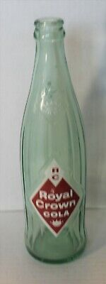 Vintage RC Royal Crown Cola Soda 12 oz Glass Bottle Diamond Bottle