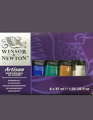 Winsor & Newton Artisan Watermixable Oil Paint Beginners Set 6x37ml :