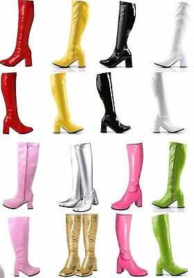 Women's & Ladies Fancy Dress Party GOGO Boots - 60s & 70s party Sizes 3 TO 12