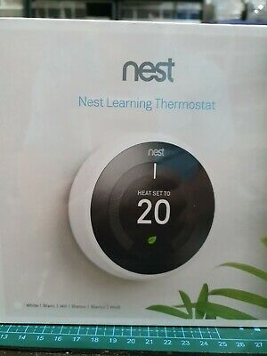 Nest T3030EX Learning Thermostat 3rd Gen - White  NEW SEALED - BNIB - FREE P&P