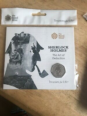2019 Sherlock Holmes 50p Fifty Pence Coin BUNC Royal Mint Presentation Pack
