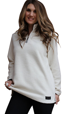 Lucky Love Womens Fleece Pullover Jacket, Half Zip Relaxed Fit, Womens & Plus