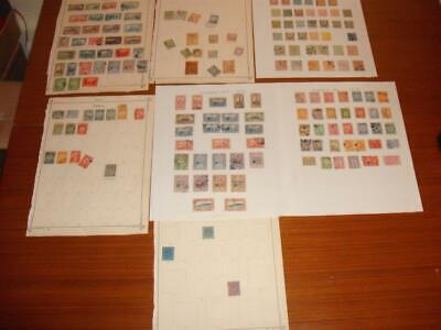 TURKEY Early Stamp Values on Album Pages Surperb Lot