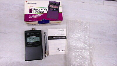 Radio Shack 22-306 1-1300MHz Handheld Frequency Counter In Box +Antenna & Manual