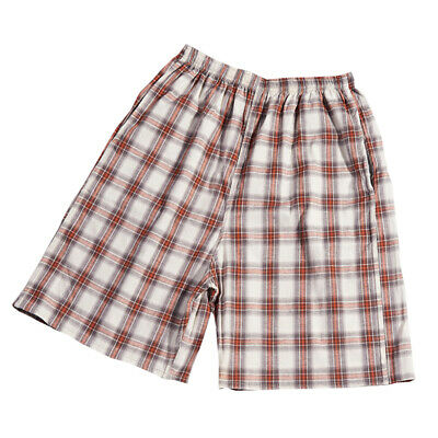 Men's Casual Sports Five Pants Summer Beach Swim Trunks Cotton Plaid Shorts P*CA