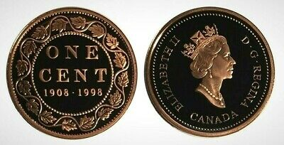 Canada 1908 - 1998 Large Cent With Proof Finish!!