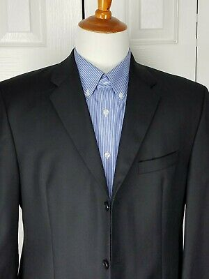 DKNY Mens Black Sports Coat Blazer Suit Jacket Size 42R