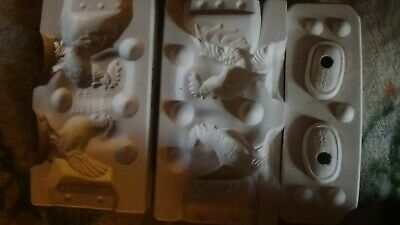 Atlantic ceramic Mold A654 Hen and Rooster Salt & Pepper Shaker Set Mold. Unused