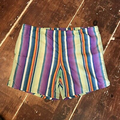 Vintage 90s Gitano Mens Swim Shorts XL Retro Trunks Suit 38-42 Waist
